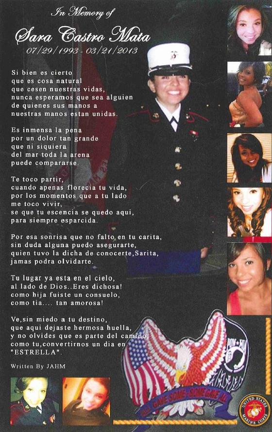 In Memory of Sara Castro Mata