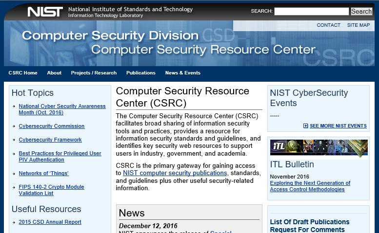 NIST Website