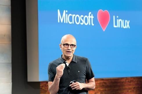 """Microsoft CEO, Satya Nadella says, """"Microsoft loves Linux."""""""