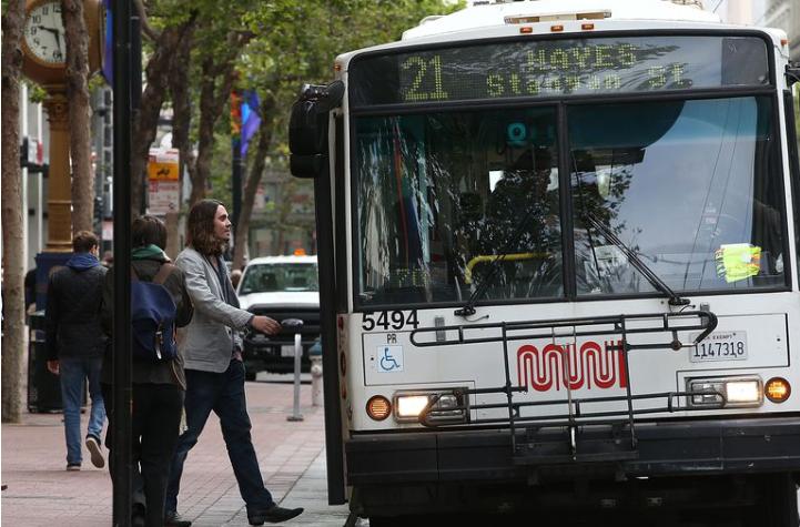 Photo by Justin Sullivan, Getty Images, Muni Bus