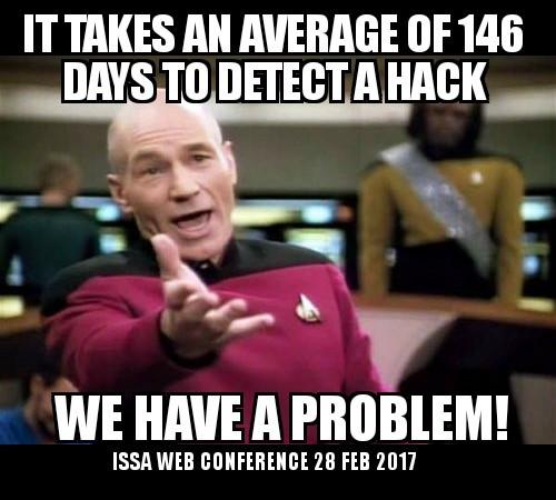 Capt. Picard Meme on Average days to detect a hack