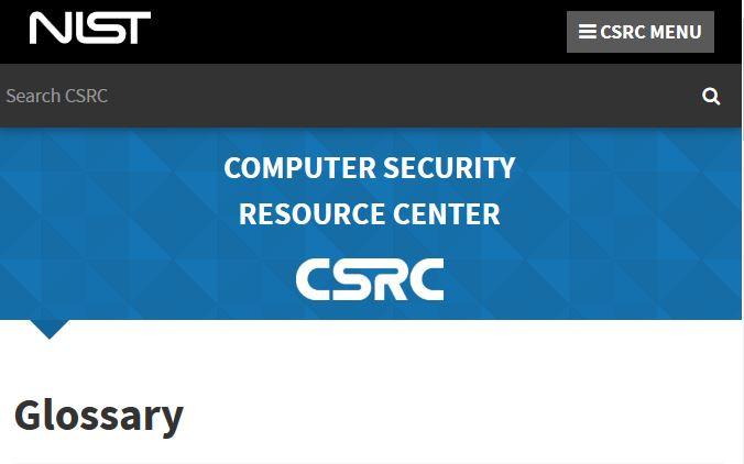NIST CSRC Glossary