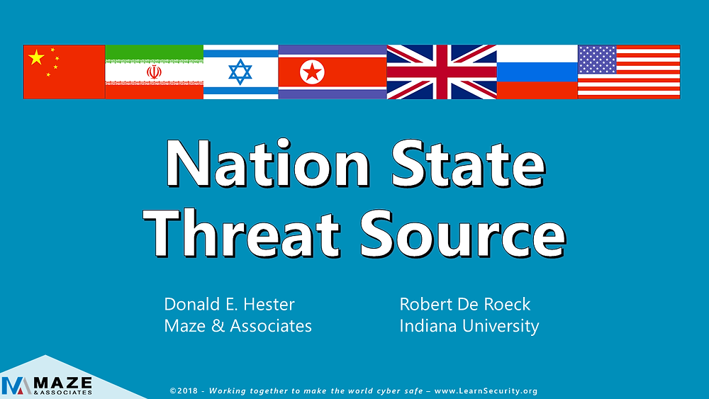 Nation-State Threat Sources