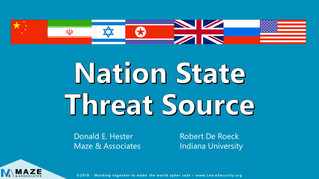 Nation-State Threat Actors