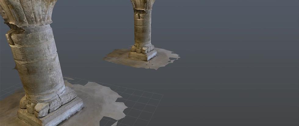 Modélisation photogrammétrique des colonnes de la salle des Moines