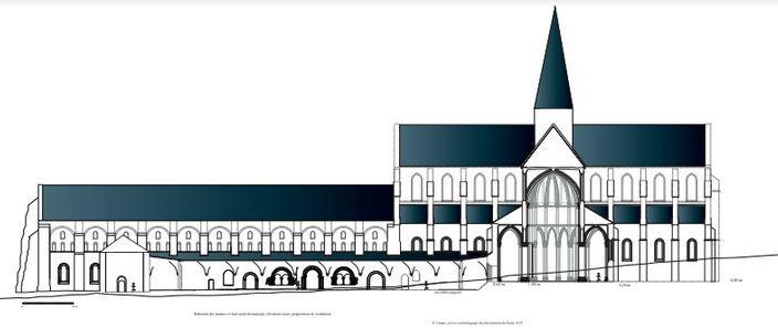 Elévation abbaye XIIIème
