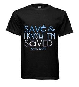Save & i Know I'm Saved Black