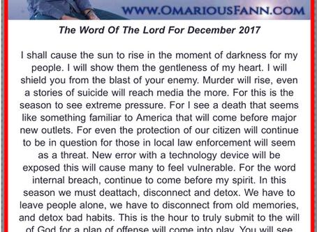 Prophetic Word for December