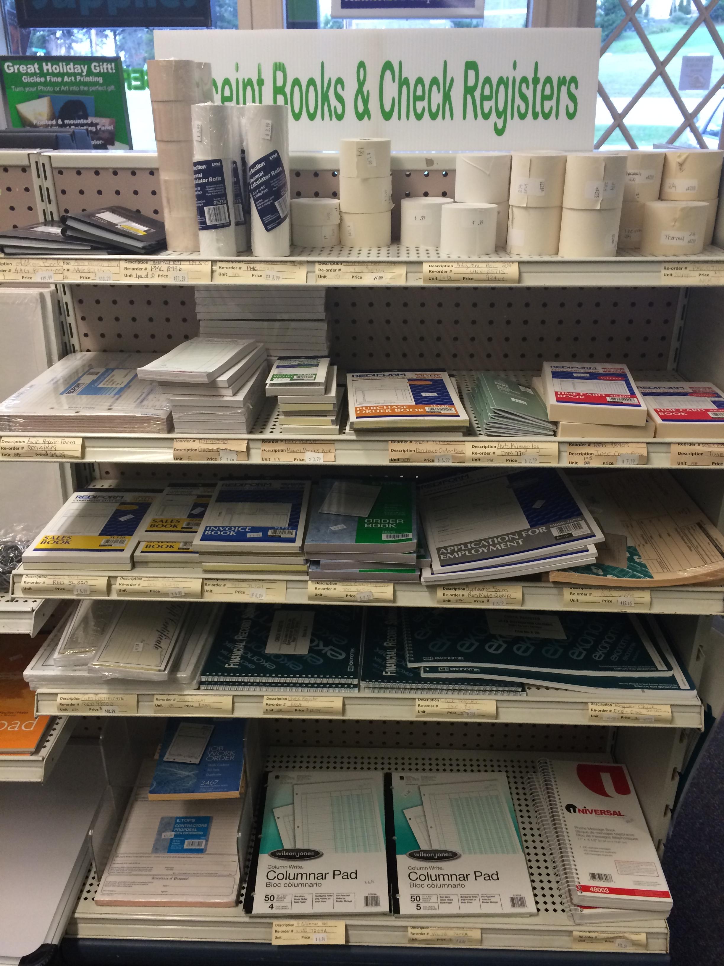 Invoices, salesbooks & receipts