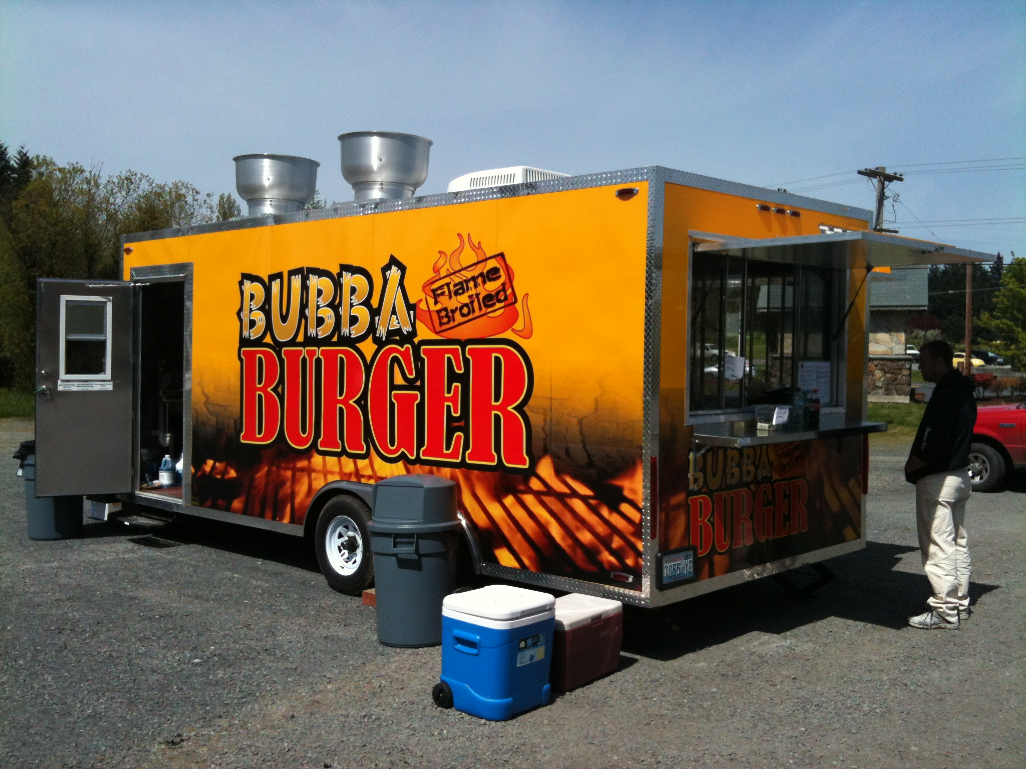 Bubba Burger Trailer Wrap