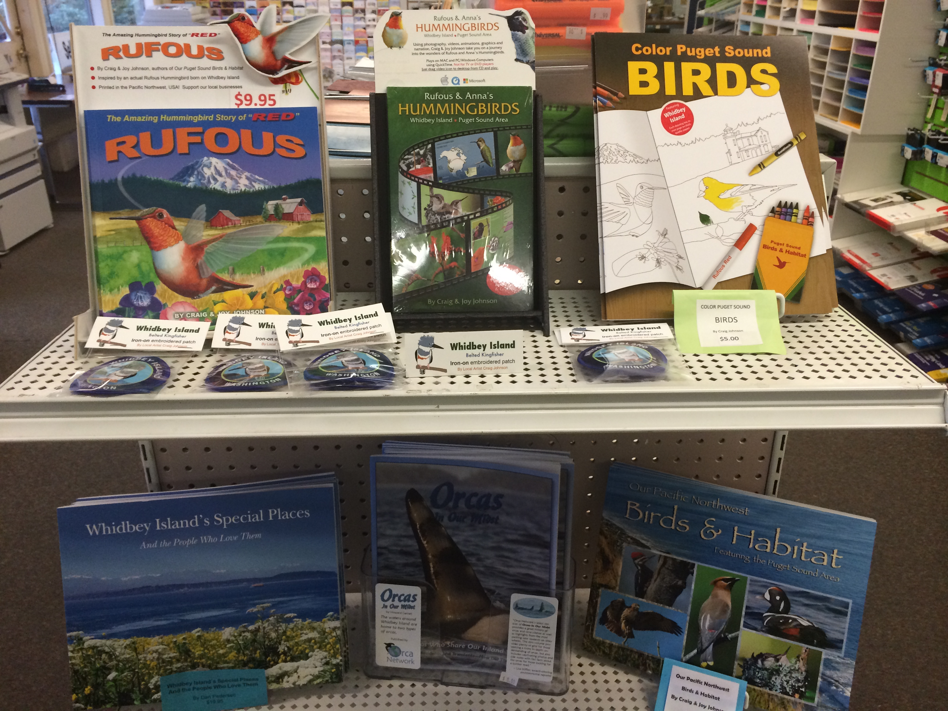 Locally created books, gifts & cards