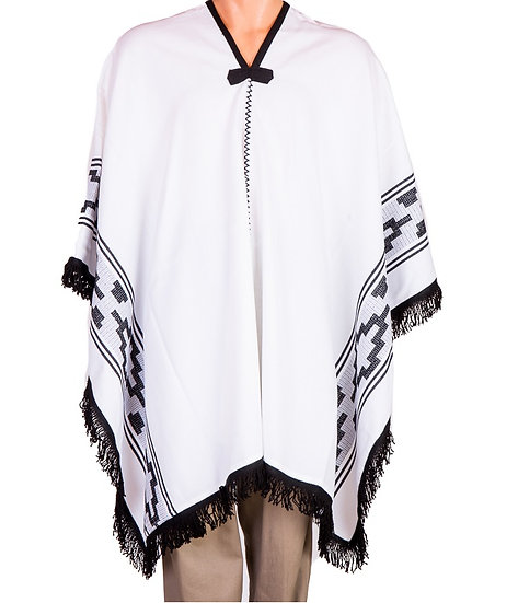 White and Black Poncho