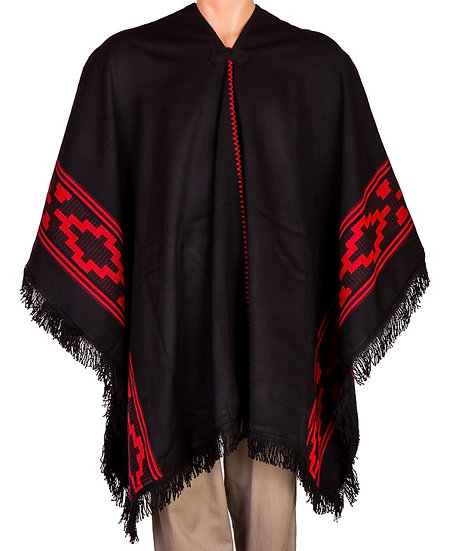 Black and Red Poncho