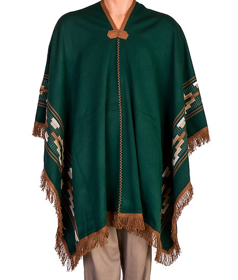 Green and Ochre Poncho
