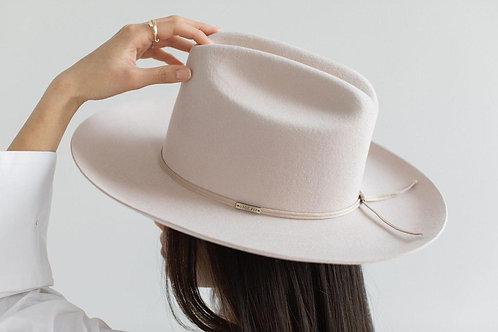 Ezra Western Hat - Ivory