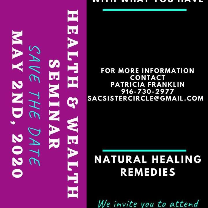 Postponed till June 2020 Health & Wealth Seminar