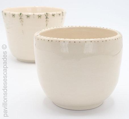 Vase en faïence - pointillés