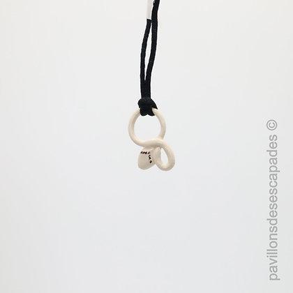 Snake earthenware pendant