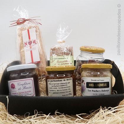 """Panier cadeau """"Gourmandises sucrées"""""""