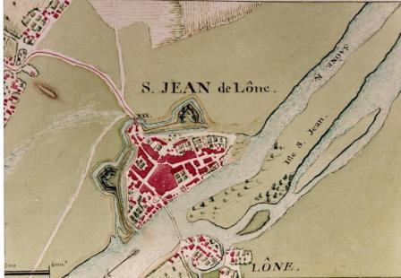 Ancien plan de Saint-Jean-de-Losne datant du XVII siècle.  Bernard Sonnet