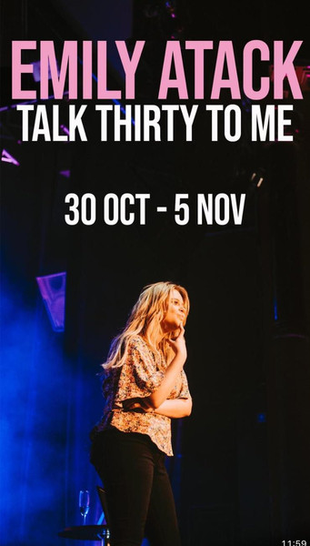 Emily Atack, Talk Thirty To Me Tour