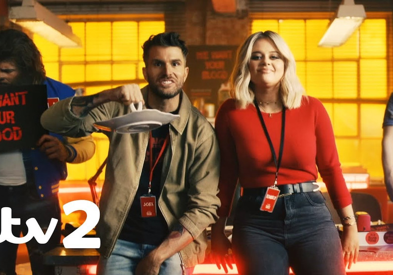Joel Dommett Emily Atack ITV2 Blood Squad Advert