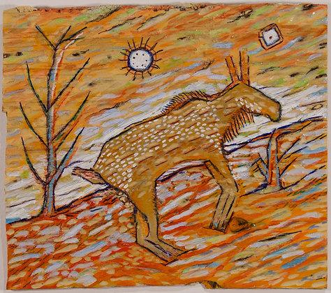 40. Deer with Trees, Kim Ewin-Goebel