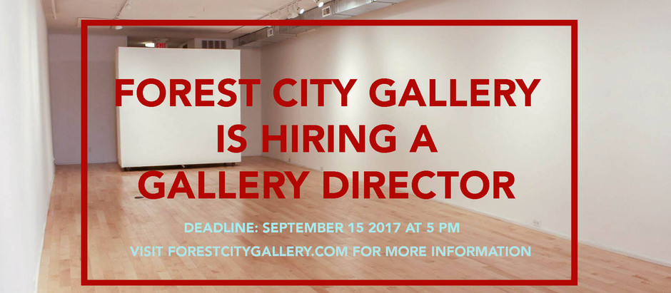 Call for Applications / FCG Gallery Director