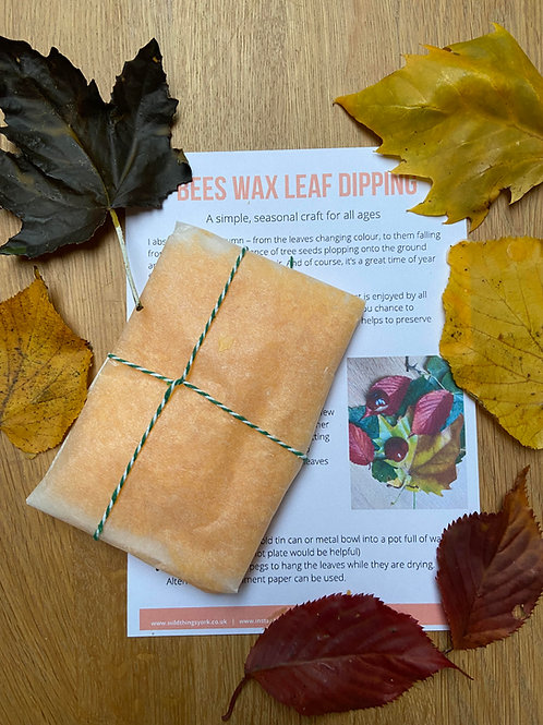 Bees wax leaf dipping activity pack