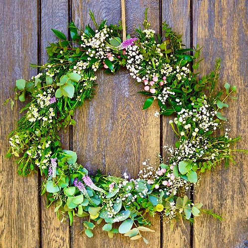 Spring Wreath - ready to hang