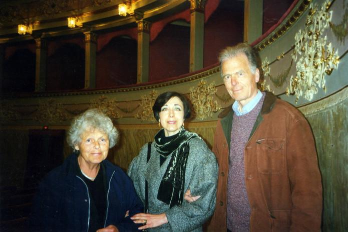 Con gli amici, Karin Holst (giornalista) e Staffan Nihlén (scultore)
