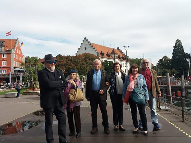 Con alcuni dei poeti invitati al Festival della Poesia Europea di Francoforte