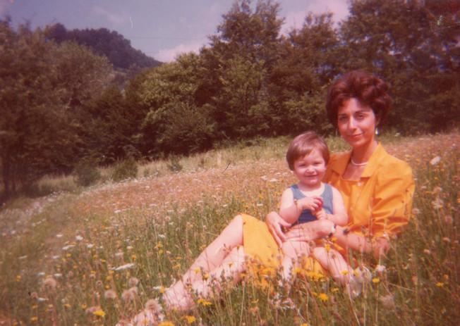 Con la figlia Irene