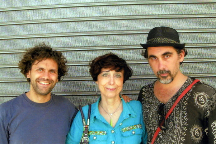 Con il pittore romano Lorenzo Bruschini (a sin.) e lo scrittore americano Rainer J. Hanshe