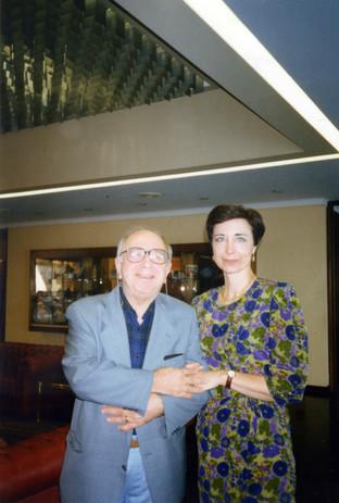 Con Ugo Ronfani (Presidente Nazionale dei Critici di Teatro)