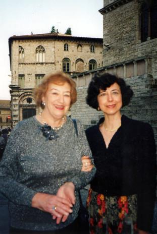 Con la poetessa Maria Luisa Spaziani
