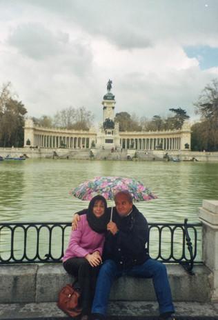 Con Moreno sotto la pioggia