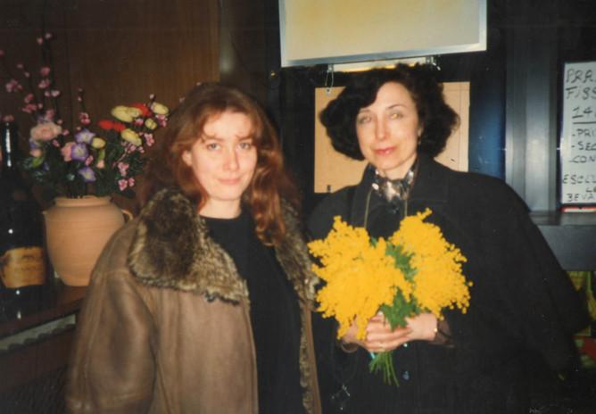 Con l'attrice Laura Rozza