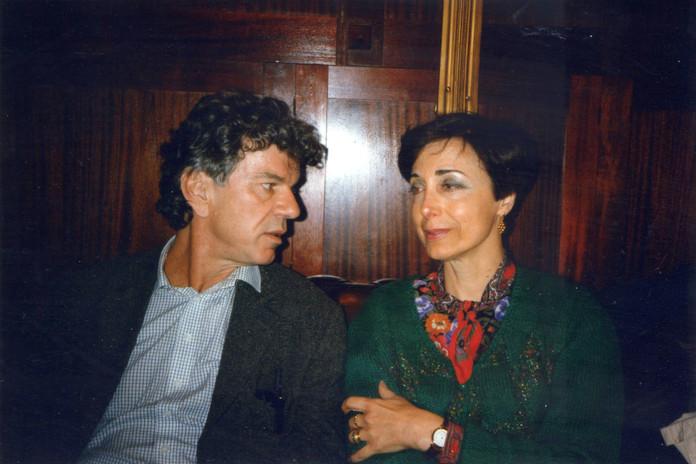 Con il poeta svedese Ragnar Stromberg