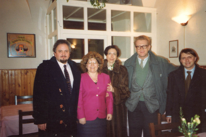 Da sinistra: Moreno, Daniela Marcheschi Maura, Valerio Magrelli, Roberto Carifi