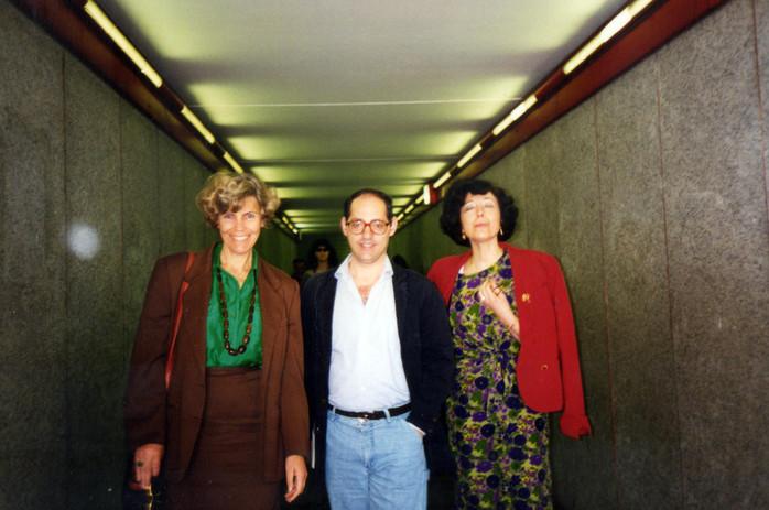 Nel tunnel della poesia con i poeti Plinio Perilli e Biancamaria Frabotta.