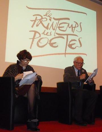 """Maura Del Serra et Andre Ughetto à """"Le Printemps des poetes""""dei poeti"""