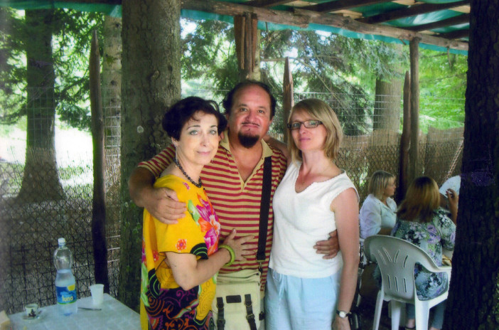 Con Moreno e la scrittrice e traduttrice svedese Ida Andersen