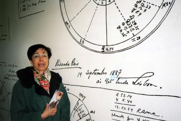 Casa Museo di Pessoa, con gli oroscopi degli eteronimi del poeta.