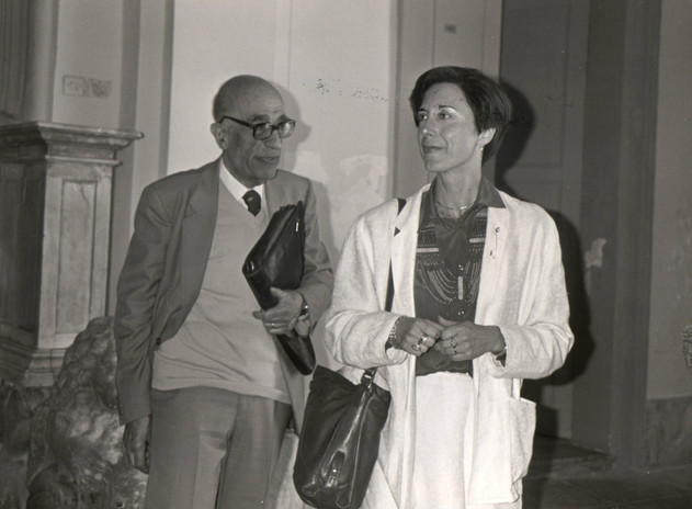 Con il Prof. Claudio Varese, Presidente della Giuria del Premio Dessì per la poesia.
