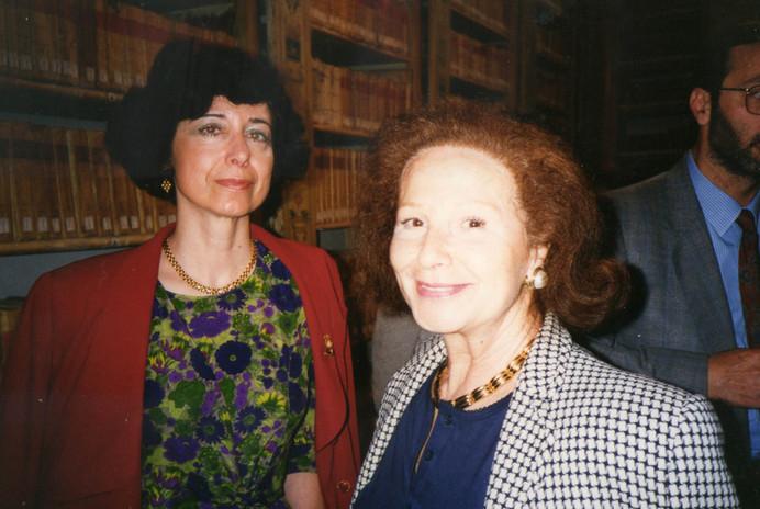 Con la decana delle annunciatrici RAI, Nicoletta Orsomando