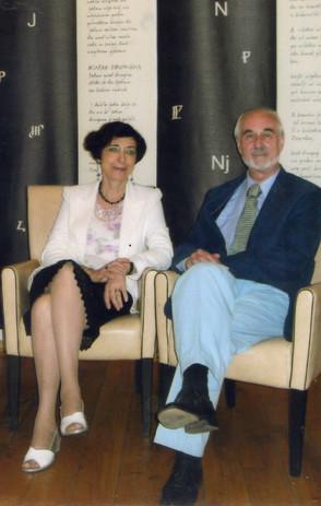 "Con Mladen Machiedo al convegno ""Literature and drama today""."