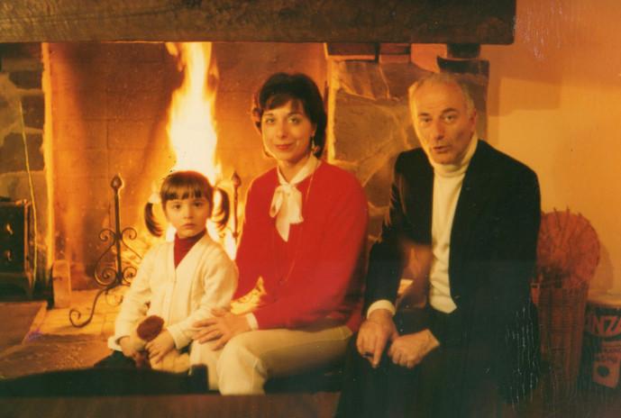 Con la figlia Irene in casa del fratello Alfio