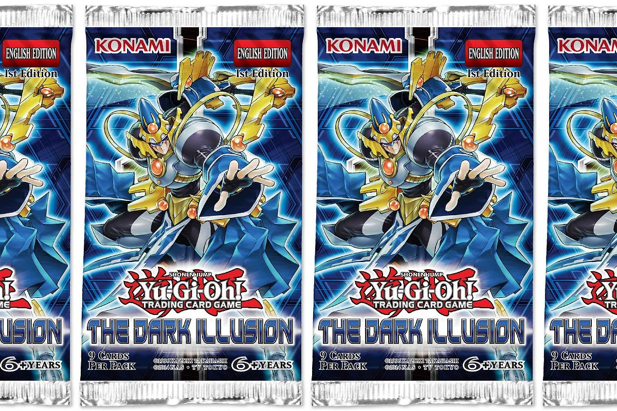 ohko yu gi oh the dark illusion booster packs x 4