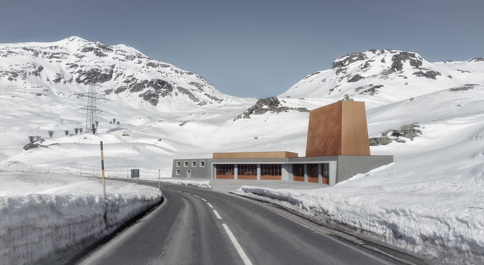 Neubau Unterstützungspunkt Bernina, 2016